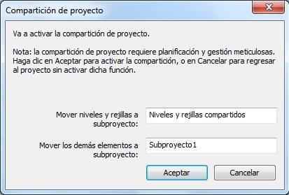Para trabajar en red con Revit se activa la compartición de proyecto