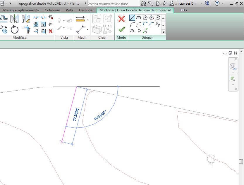 En el modo Boceto tienes que utilizar las herramientas que aparecen resaltadas en la cinta de opciones en color verde. Creas una superfície con estas herramientas de dibujo como si se tratara de AutoCAD